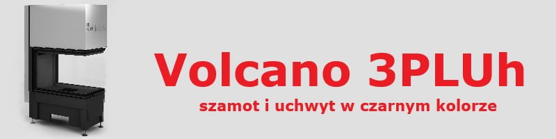 vol 3pluh black 5e4bed76af31b - Wkład kominkowy Hajduk Volcano 3PLUh