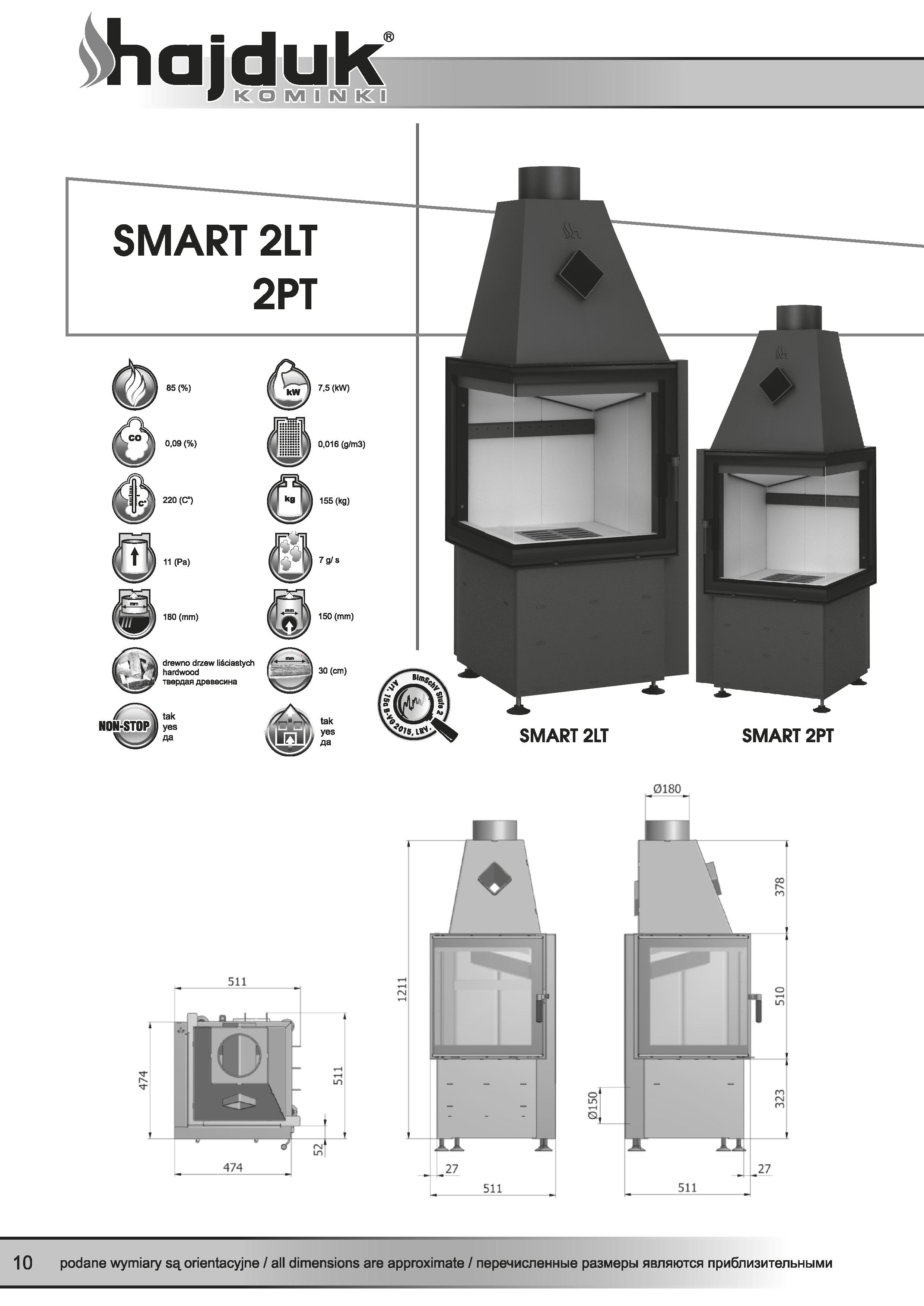 Smart%202LT%202PT%20 %20karta%20techniczna - Fireplace insert Hajduk Smart 2LT