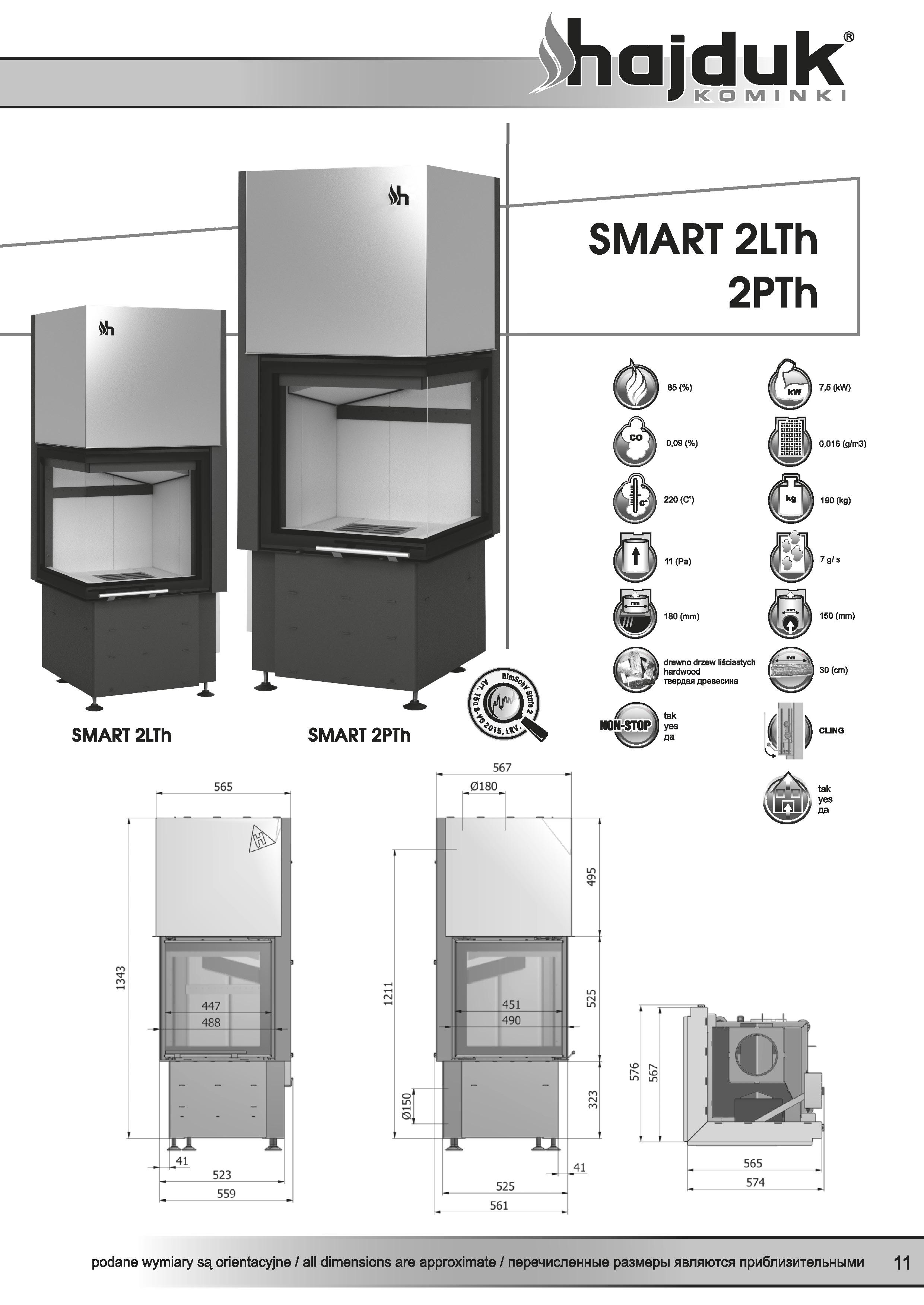 Smart%202LTh%202PTh%20 %20karta%20techniczna - Fireplace insert Hajduk Smart 2LTh - frameless door