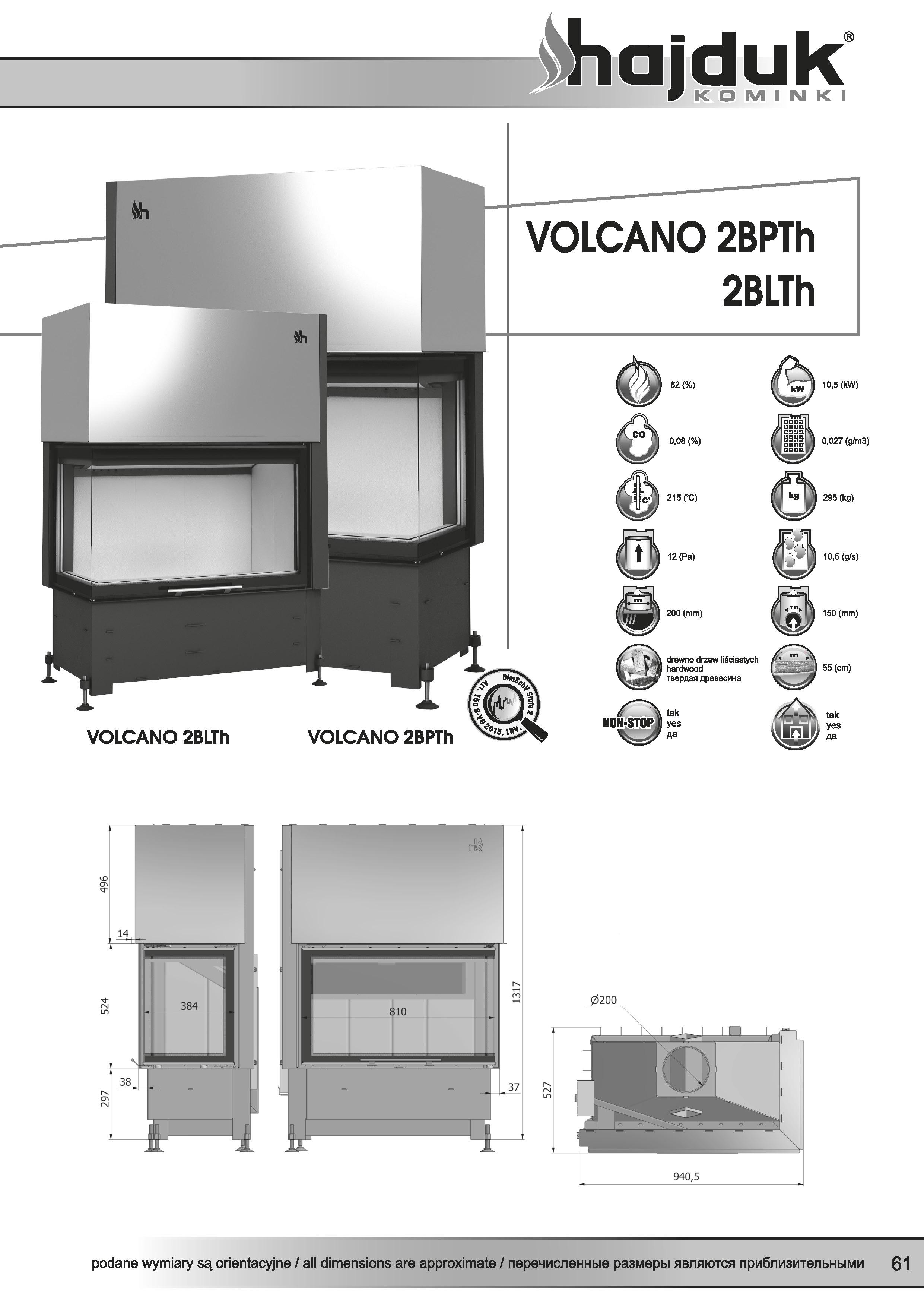 Volcano%202BPTh%202BLTh%20 %20karta%20techniczna - Wkład kominkowy Hajduk Volcano 2BLTh  - drzwiczki bezramowe