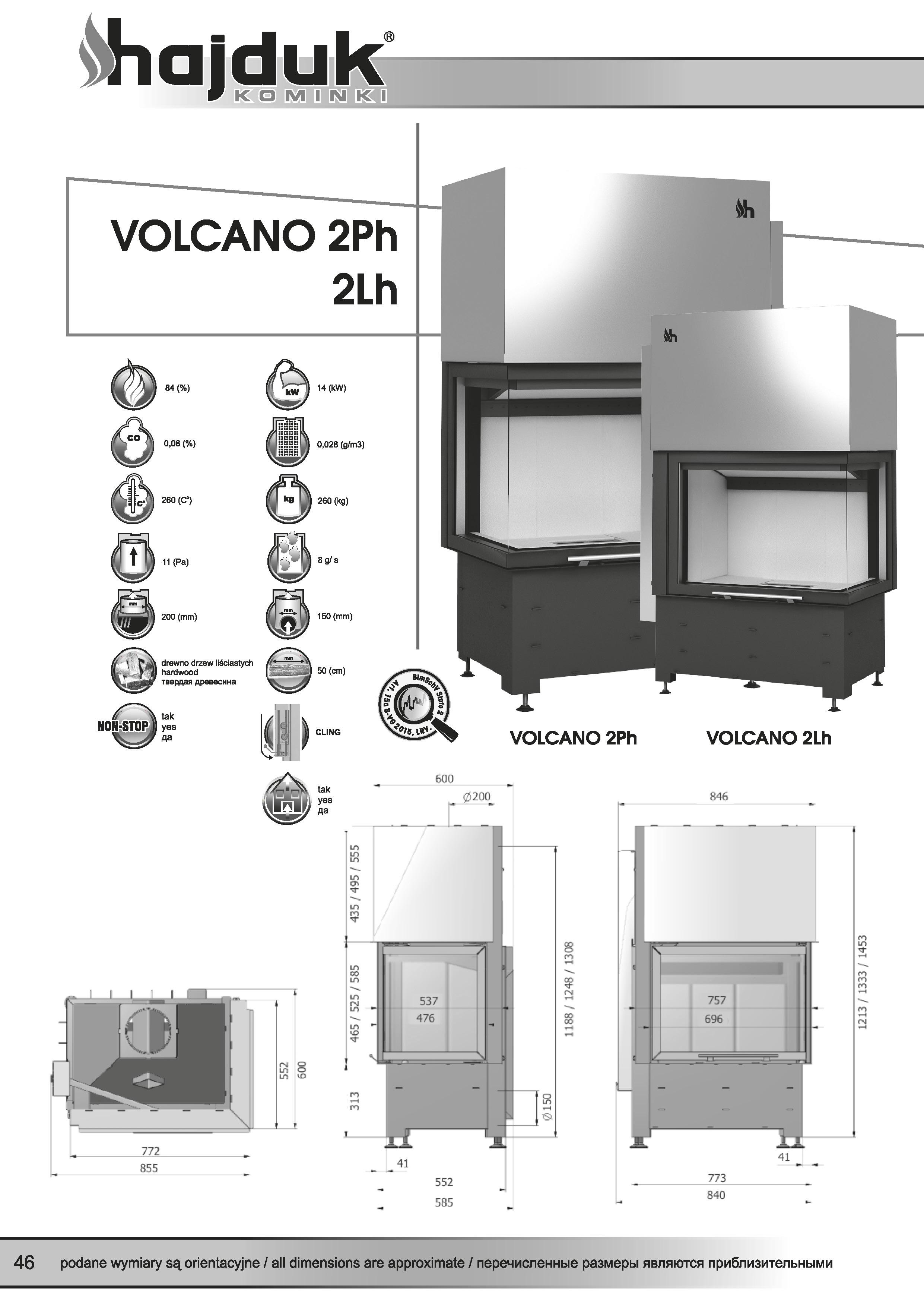 Volcano%202Ph%202Lh%20 %20karta%20techniczna - Krbová vložka Hajduk Volcano 2Ph uniformné sklo