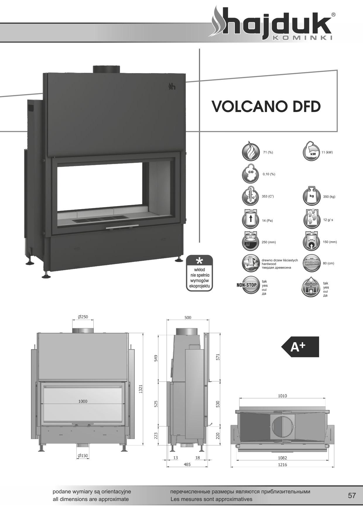 Volcano%20DFD%20 %20karta%20techniczna - Fireplace insert Hajduk Volcano DFD