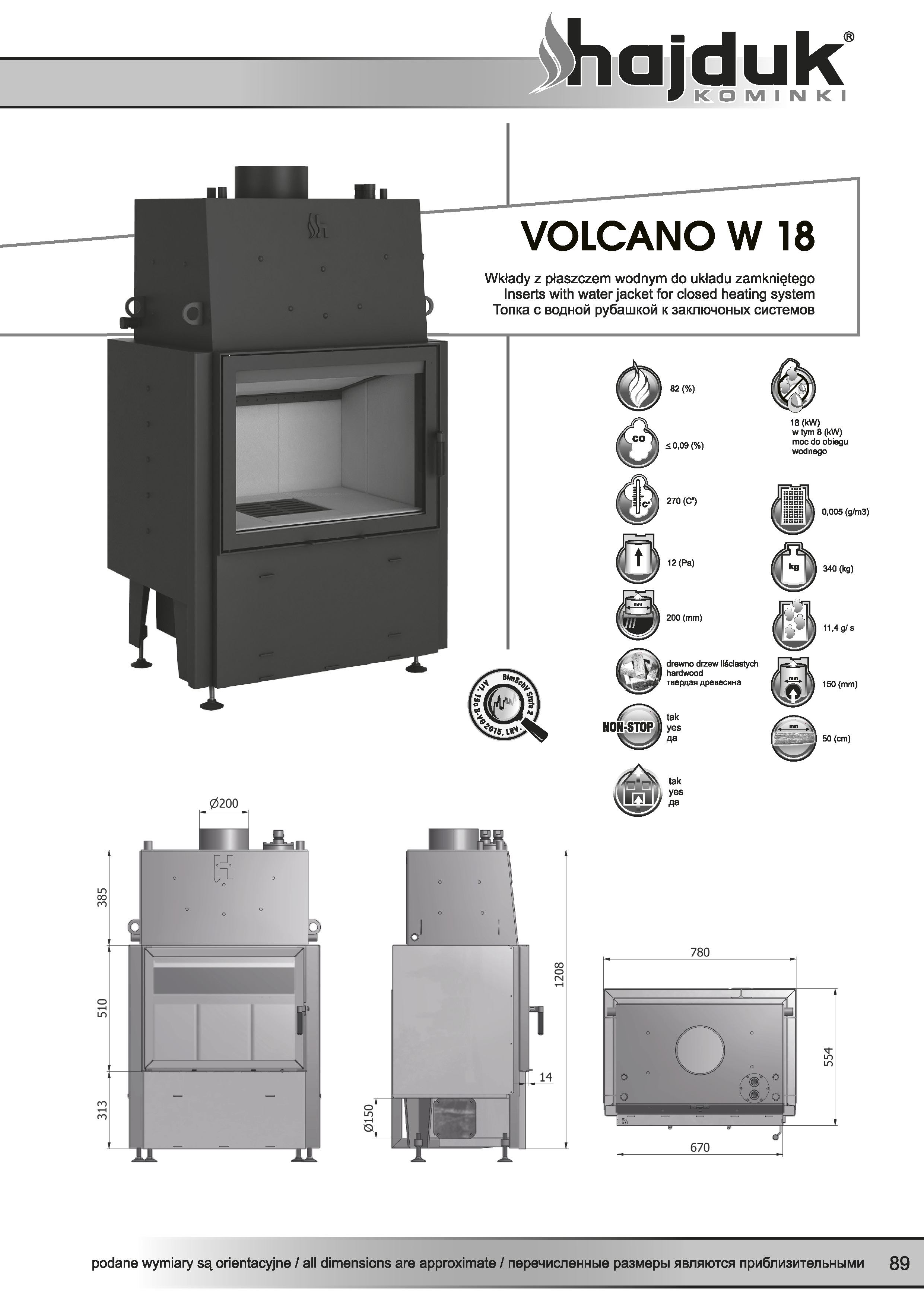 Volcano%20W 18%20 %20karta%20techniczna - Hajduk  Volcano W 18